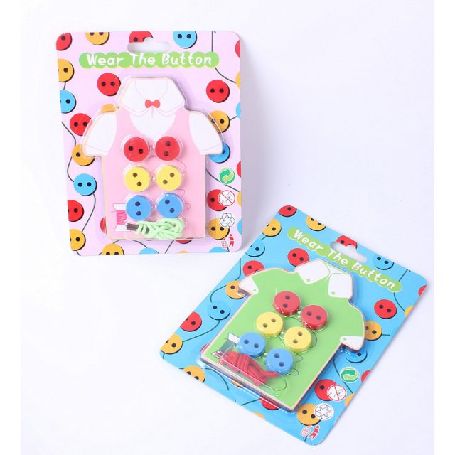 Montessori Sewing On Buttons Toy